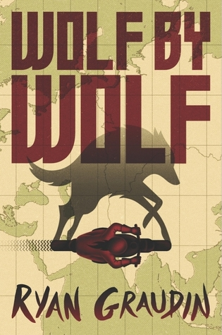 Wolf on motorcycle on map of Germany