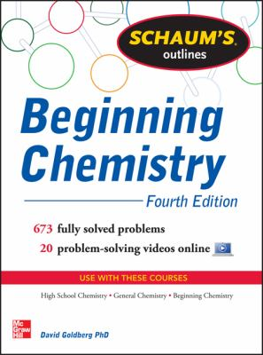 Cover of Schaum's Outlines for Beginning Chemistry