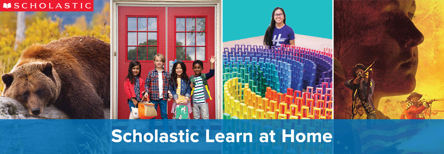 Scholastic learn at home logo