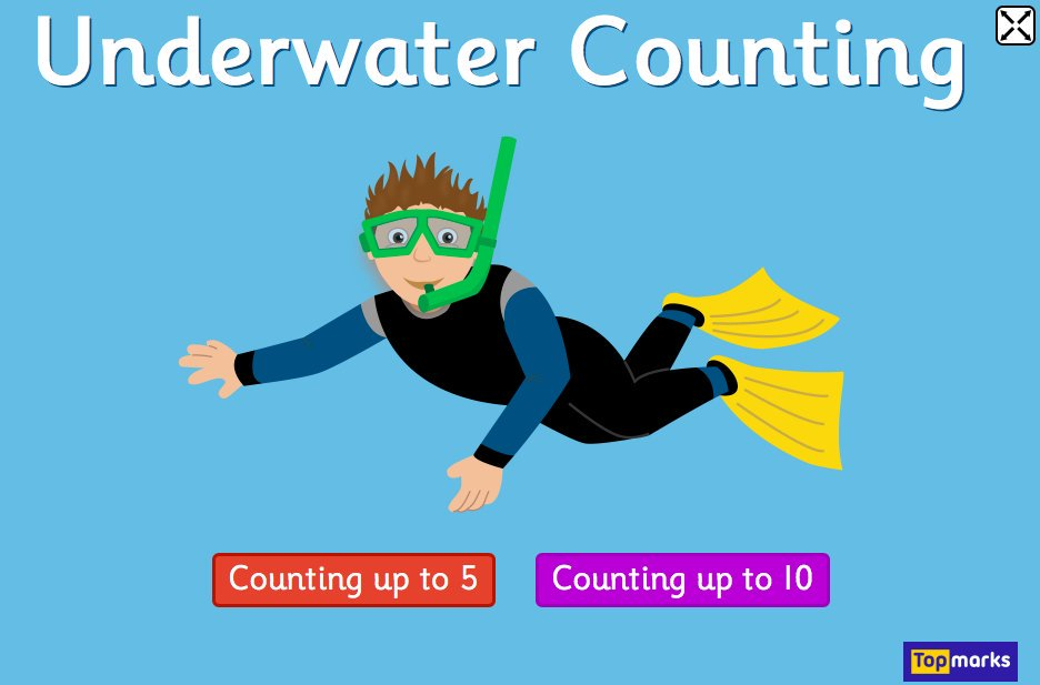 underwater counting math game