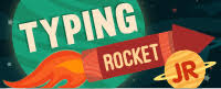 typing rocket game logo