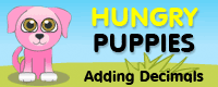 Hungry Puppies Adding Decimals logo