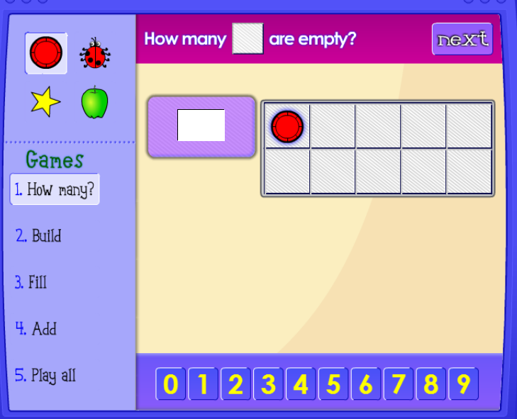 Ten Frame math game