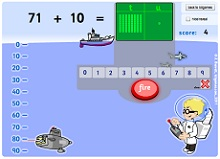 ICT numberline math games
