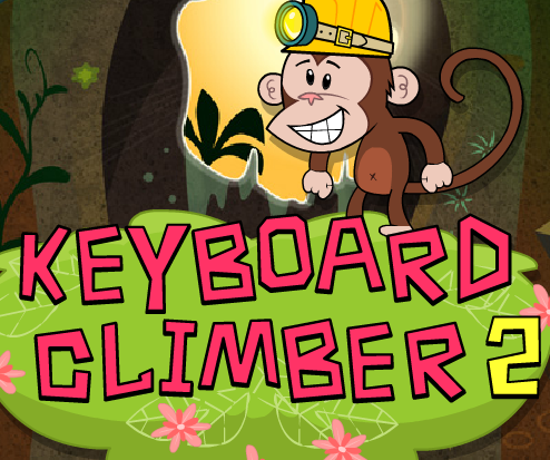 Keyboard Climber typing game logo