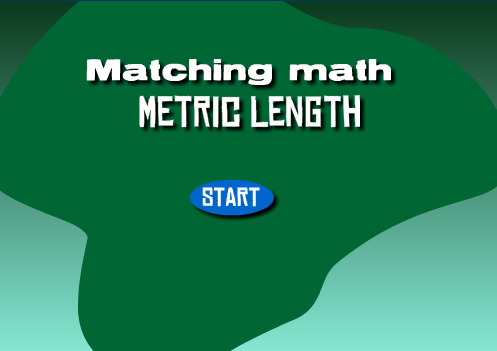 Matching Math metric length game