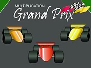 Grand Prix Multiplication math game