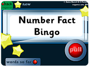 Number Fact Bingo game