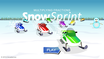 Snow Sprint math game