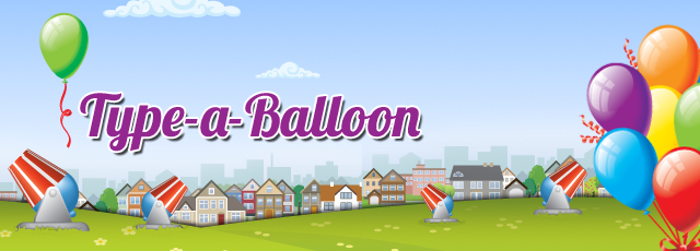 type-a-balloon typing game