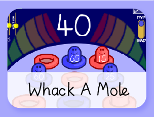 Whack A Mole math game
