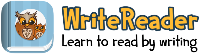 Write Reader logo Learn to read by writing