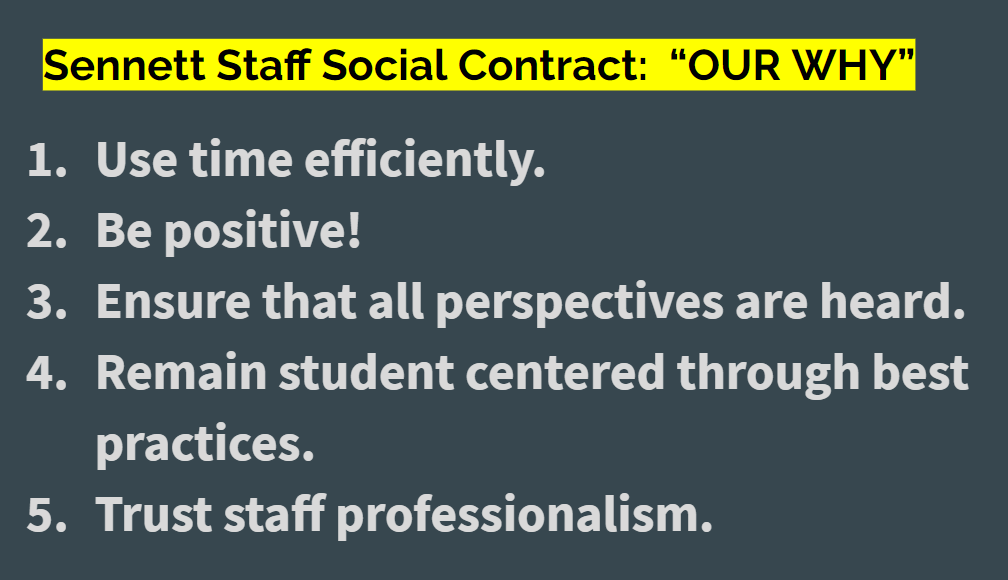 Staff Social COntract- 1. Use time efficiently