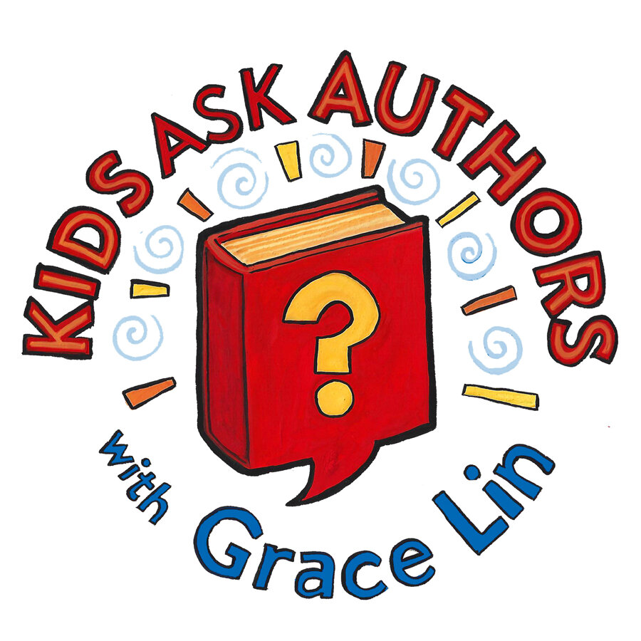 kids ask authors podcast logo