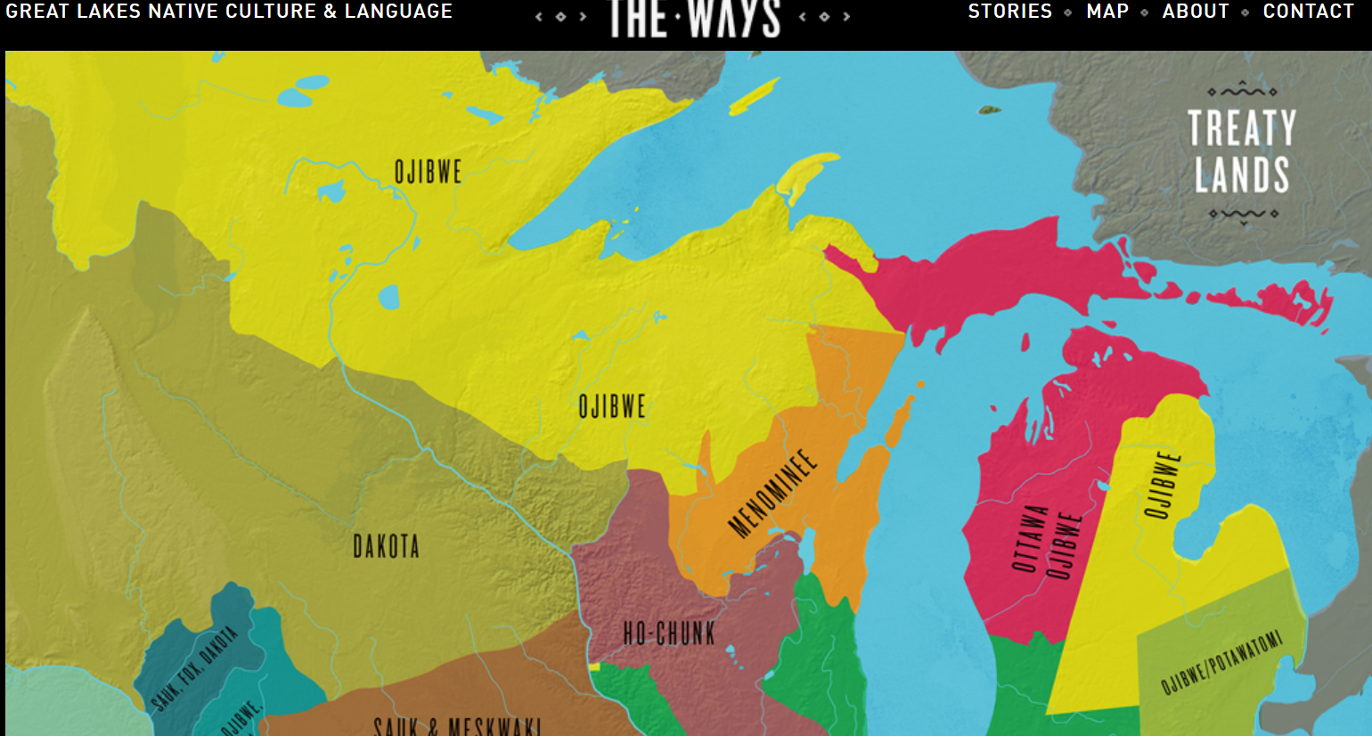 the way great lakes map and stories