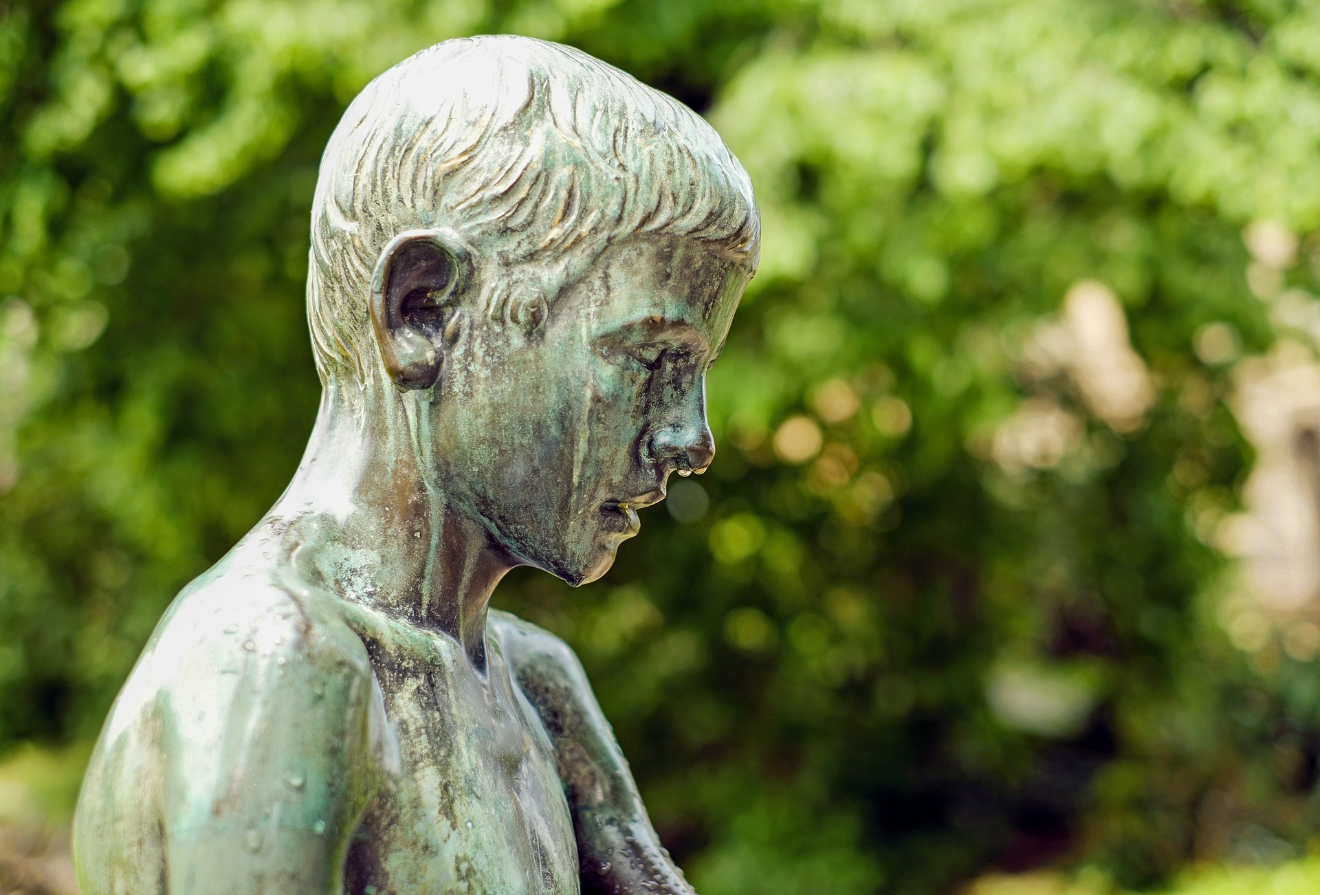 Sculpture of a boy