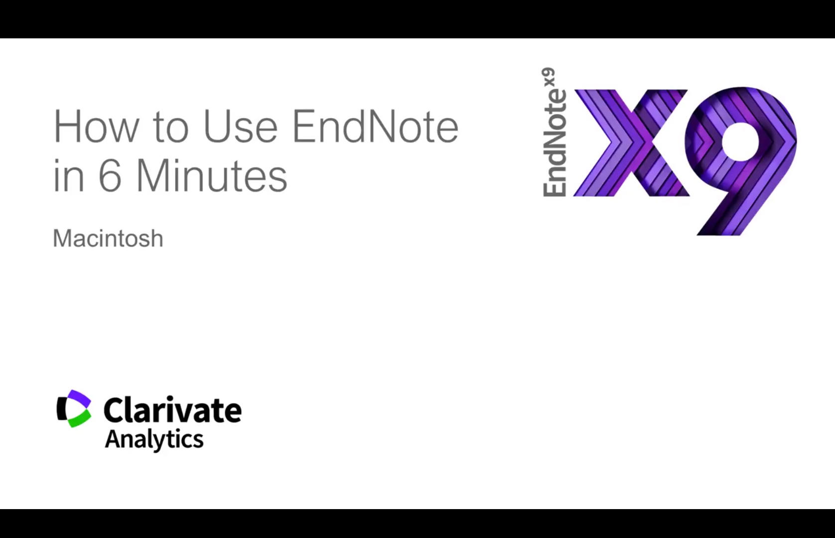 How to use EndNote in 6 minutes. (For Macintosh)