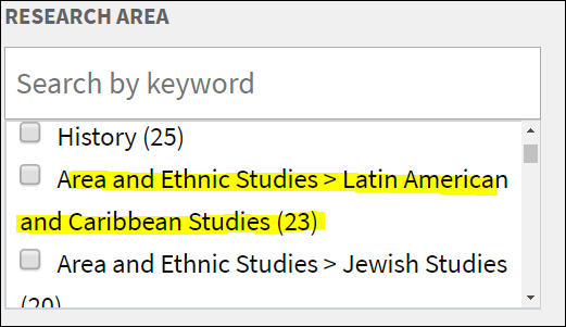 picture of area and ethnic studies > Latin American and Caribbean Studies in Research Area