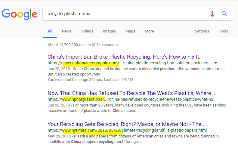 recycle plastic china google search