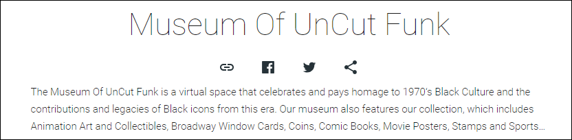 Museum of UnCut Funk welcome page
