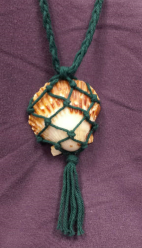 Macrame Shell Necklaces