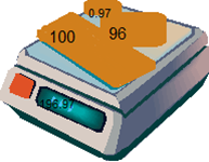 Image illustrating the atomic weight of gold - image can be copyrighted, weight can't