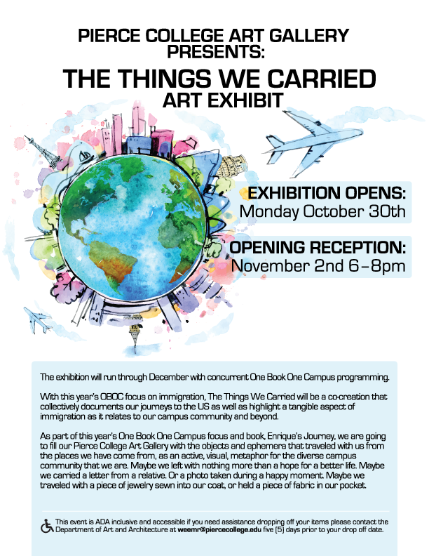 Art Galley Exhibit and Reception Flyer
