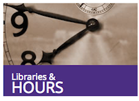 screenshot of library hours tile