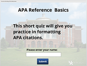 APA Reference Basics