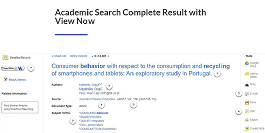 Academic Search Complete Search Results