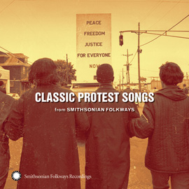 image of Smithsonians Folkways Protest Songs recor