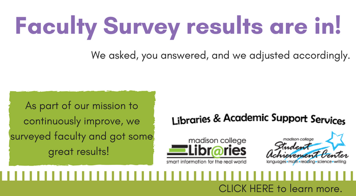 Faculty Survey results are in