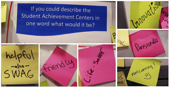 post its of what students like about SAC