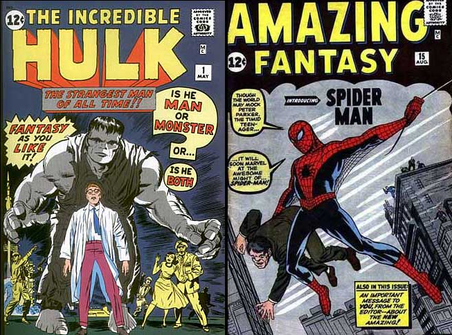 cover images of hulk and spider man comics