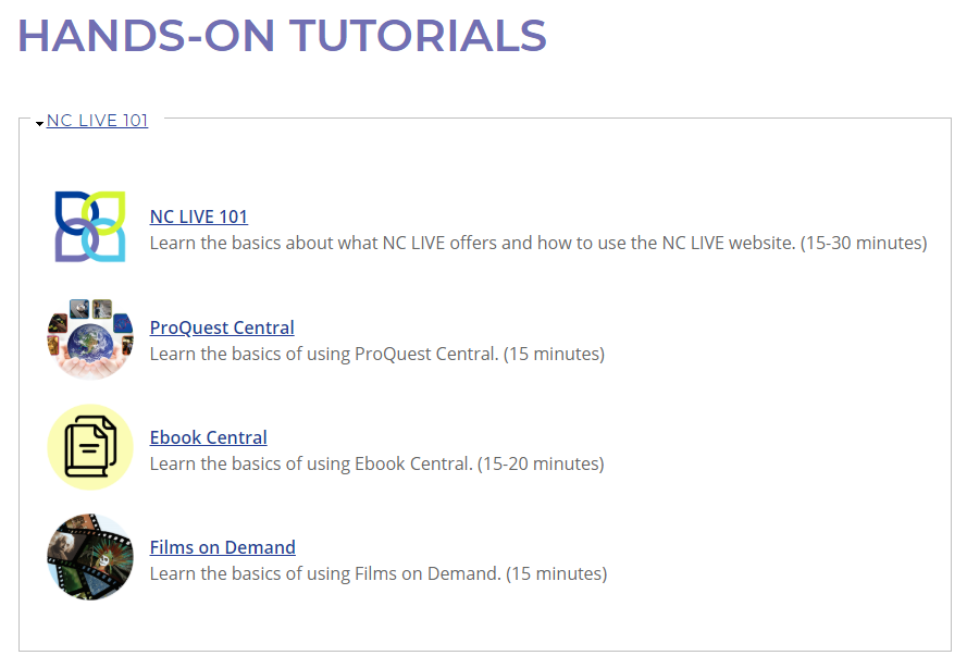 NCLIVE Hands on Tutorials image