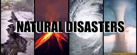 Various pics of natural disasters: earthquakes, volcanoes, hurricanes, tornadoes