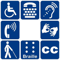 Disability symbols by NPS Graphics