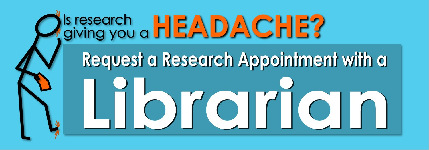 Schedule a research appointment with a librarian