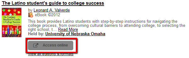 Ebook from the catalog called The Latino Student's Guide to College Success