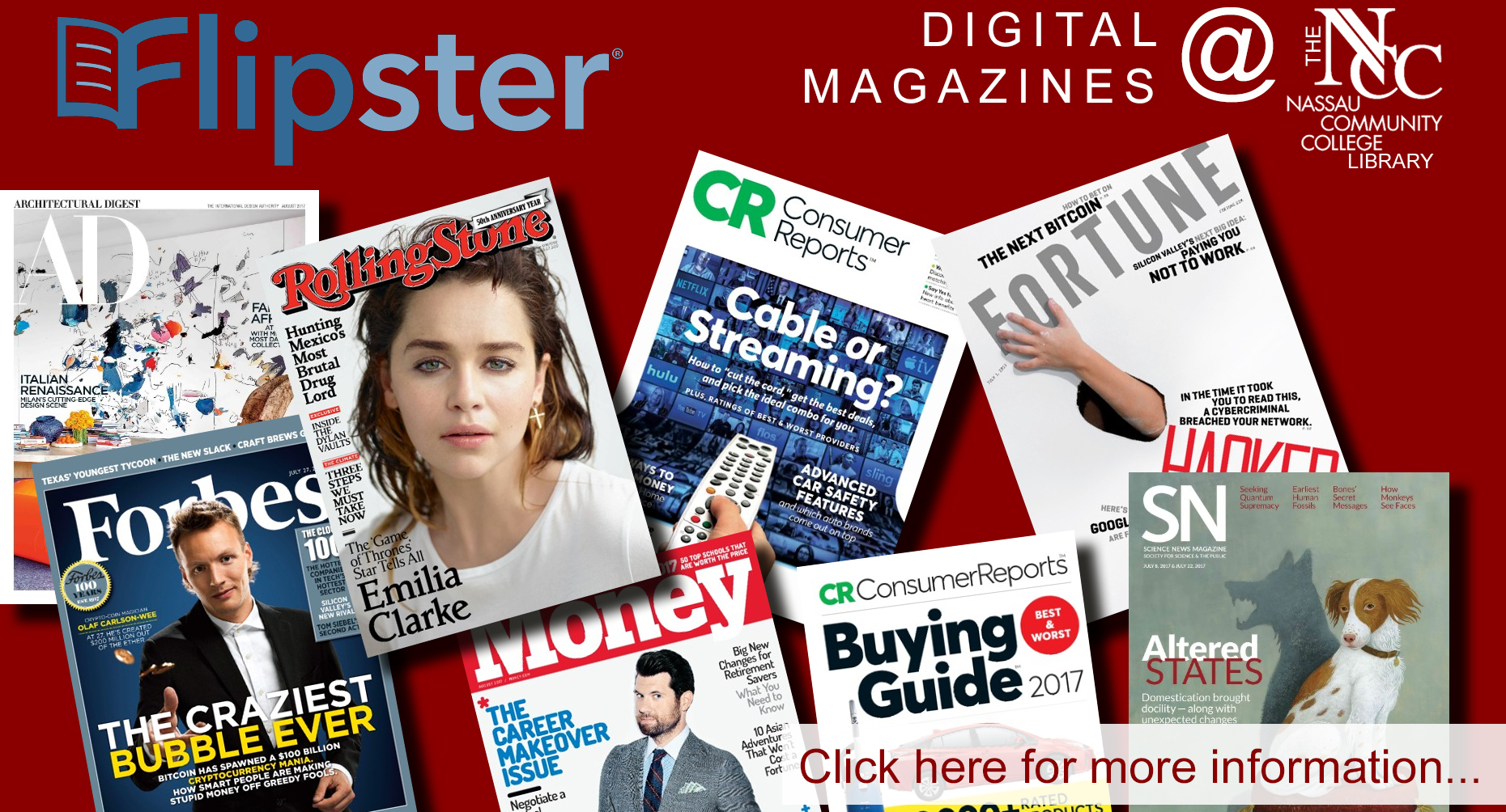 Link to Flipster for digital Magazines