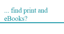find print and eBooks?