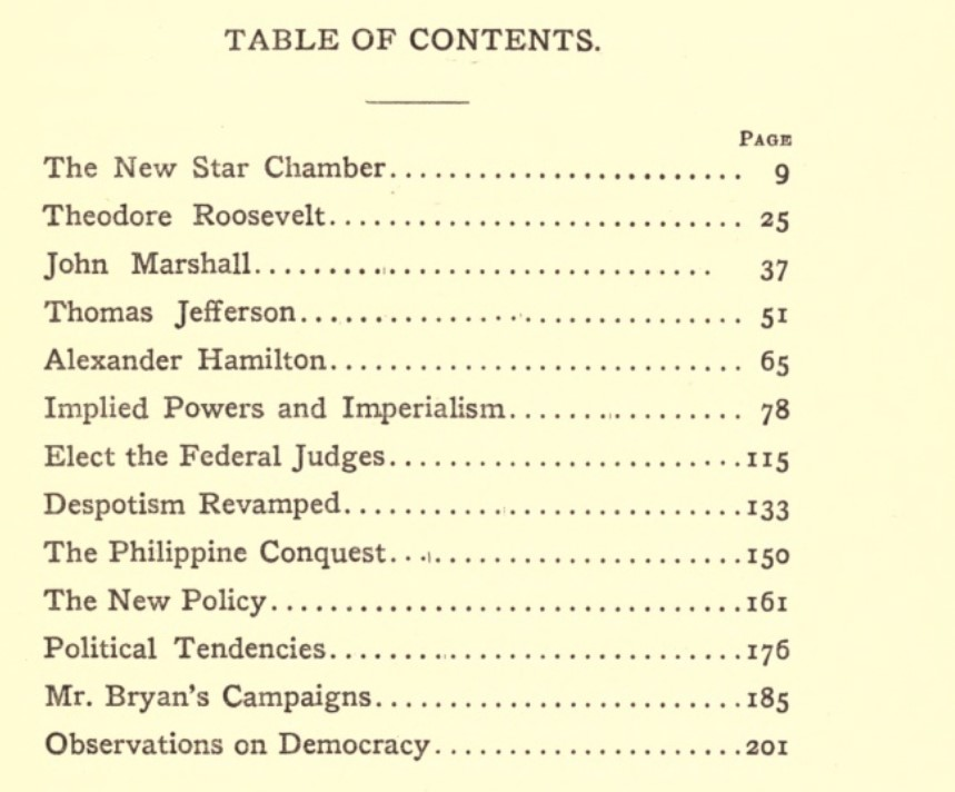 Edgar Lee Masters - Book - The New Star Chamber and Other Essays - Includes Theodore Roosevelt - Implied Powers and Imperialism - The Philippine Conquest