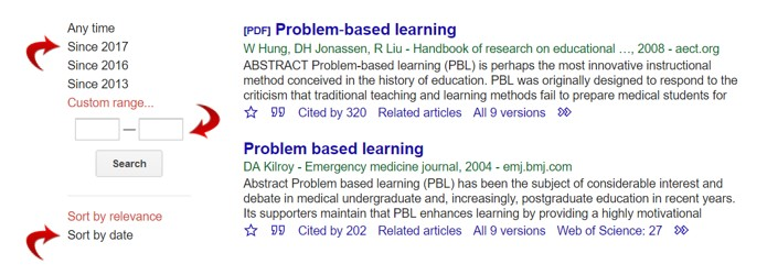 Link to Google Scholar ... change the dates on the Google Scholar results page to access more recent research