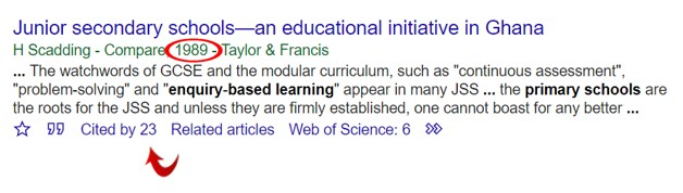 Link to Google Scholar ... click on Cited by in Google Scholar to access articles that have cited this article