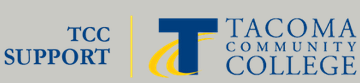 logo for TCC support, with TCC standard logo
