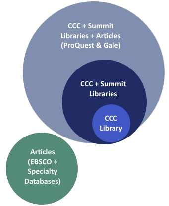 Search scopes for CCC Library's catalog