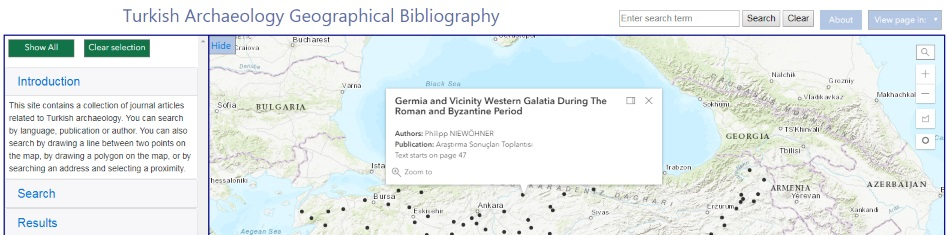 Mapped Bibliography - An ArcGIS API Template