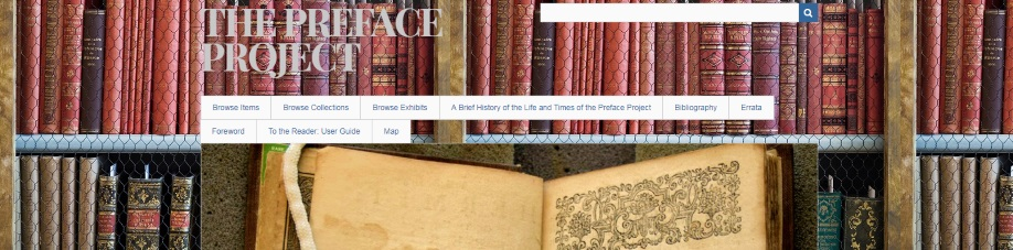 The Preface Project - A Library Special Collections Project