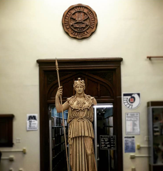 Athena statue in main room