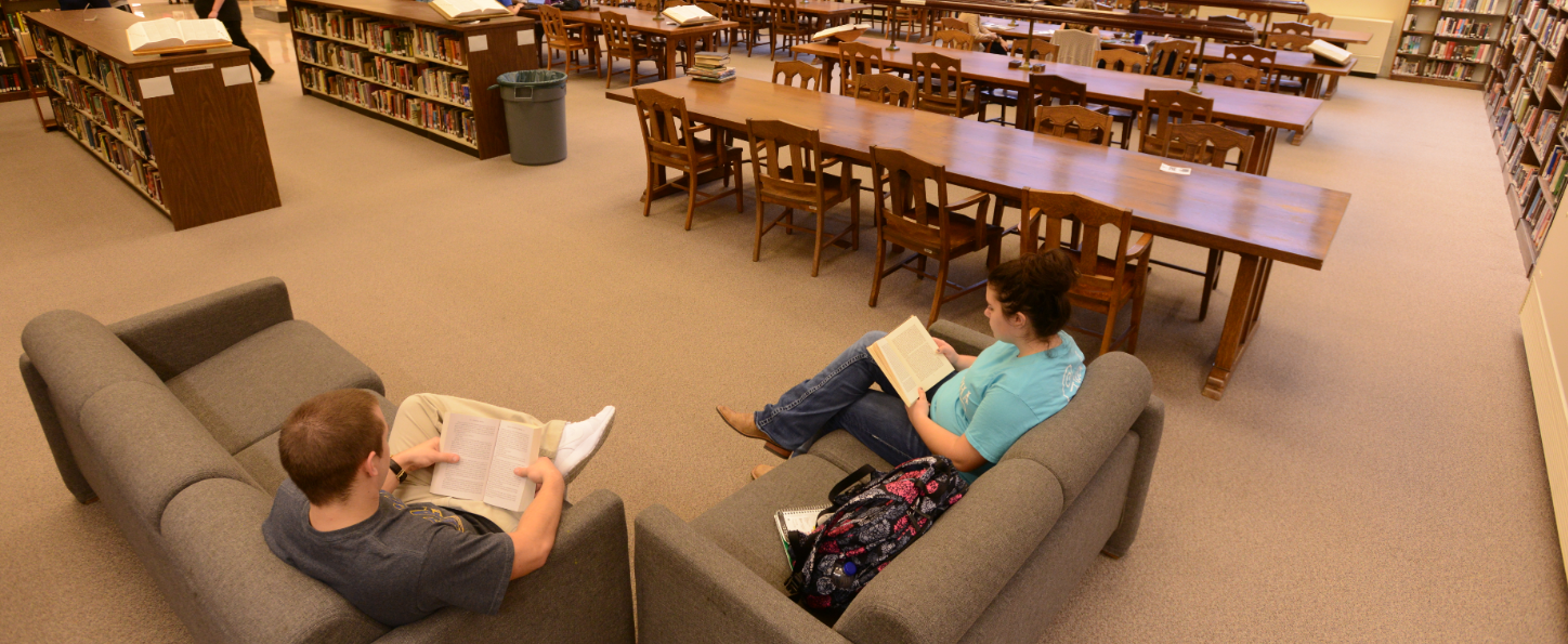 Students in reading room